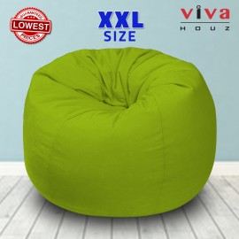 Viva Houz Fun-Zone Bean Bag /Sofa/Chair, XXL Size, ±3.5kg, Imported Micro Suede Cover, Multiple Color Choice (Green)