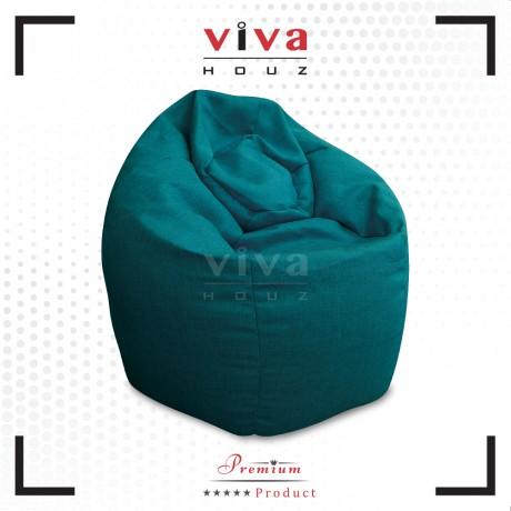 VIVA HOUZ - GIANT Bean Bag / Chair / Sofa, XXL Size (BLUE)