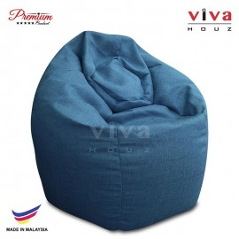 VIVA HOUZ - GIANT Bean Bag / Chair / Sofa, XXL Size (FLASH BLUE)