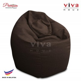 VIVA HOUZ - GIANT Bean Bag / Chair / Sofa, XXL Size (WALNUT BROWN)