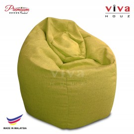 VIVA HOUZ - GIANT Bean Bag / Chair / Sofa, XXL Size (APPLE GREEN)