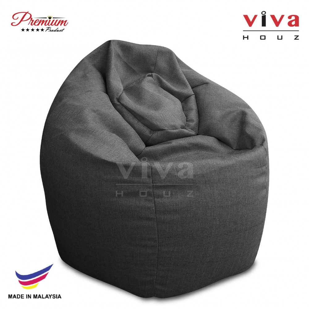 VIVA HOUZ - GIANT Bean Bag / Chair / Sofa, XXL Size (CLASSIC GREY)