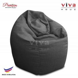 VIVA HOUZ - GIANT Bean Bag / Chair / Sofa, XXL Size (CLASSIC GREY)