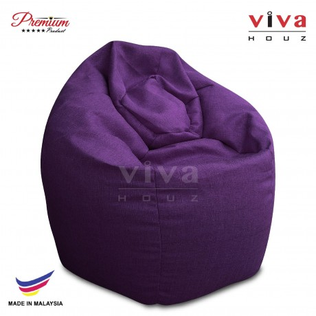 VIVA HOUZ - GIANT Bean Bag / Chair / Sofa, XXL Size (FANCY PURPLE)