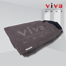Viva Houz Happy Bean Bag Cover, XL Size, Imported Microsuede Cover (Grey)