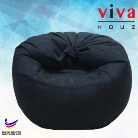 Viva Houz Happy Bean Bag/ Sofa /Chair, XL Size, 2.5kg (Black)