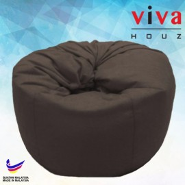 Viva Houz Happy Bean Bag/ Sofa /Chair, XL Size, 2.5kg (Brown)