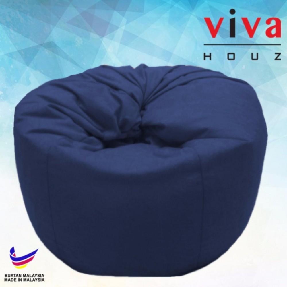 Viva Houz Happy Bean Bag/ Sofa /Chair, XL Size, 2.5kg (Dark Blue)