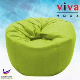 Viva Houz Happy Bean Bag/ Sofa /Chair, XL Size, 2.5kg (Green)