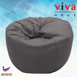 Viva Houz Happy Bean Bag/ Sofa /Chair, XL Size, 2.5kg (Grey)