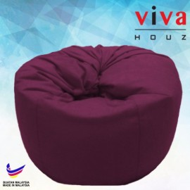 Viva Houz Happy Bean Bag/ Sofa /Chair, XL Size, 2.5kg (Maroon)