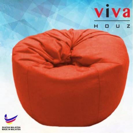 Viva Houz Happy Bean Bag/ Sofa /Chair, XL Size, 2.5kg (Orange)