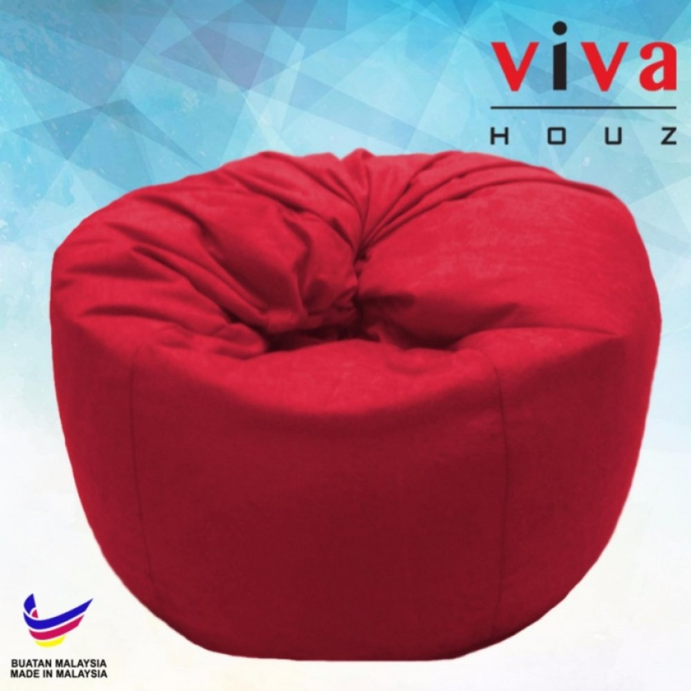 Viva Houz Happy Bean Bag Sofa Chair XL Size 25kg Red
