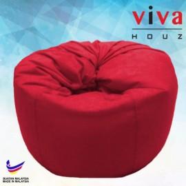 Viva Houz Happy Bean Bag/ Sofa /Chair, XL Size, 2.5kg (Red)