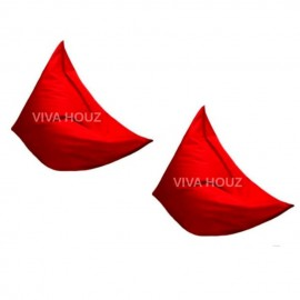 VIVA HOUZ - MEGA Bean Bag (XL Size) RED (Set of Two)