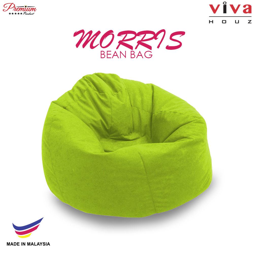 Viva Houz Morris Bean Bag/ Sofa /Chair, XL Size, 2.0 Kg (Green)