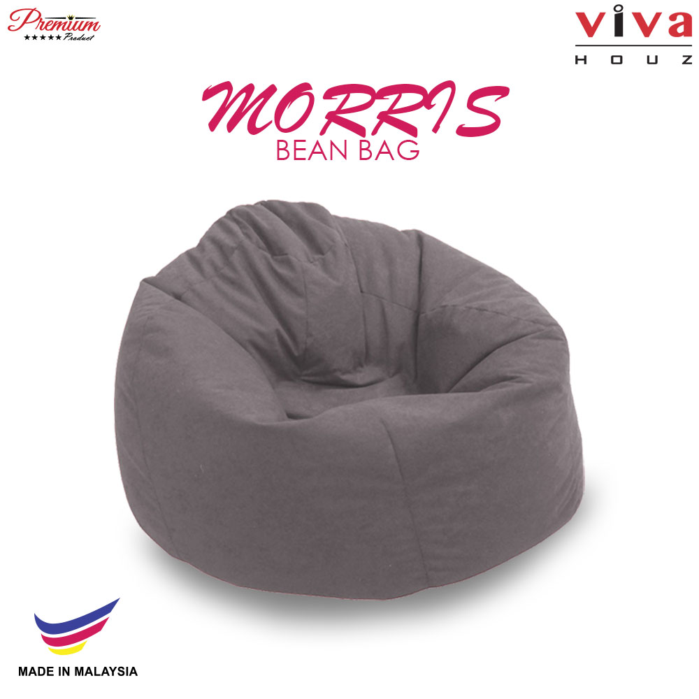Viva Houz Morris Bean Bag/ Sofa /Chair, L Size, 2.0 Kg (Grey)