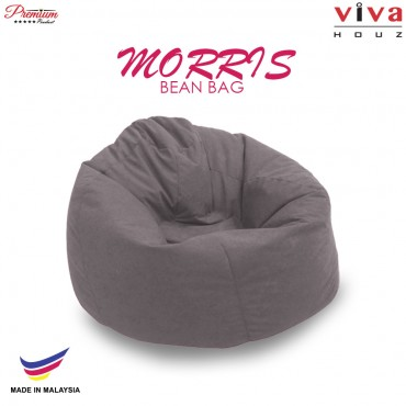 Viva Houz Morris Bean Bag/ Sofa /Chair, L Size, (Grey)