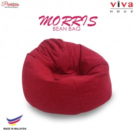 Viva Houz Morris Bean Bag/ Sofa /Chair, L Size, 2.0 Kg (Red)