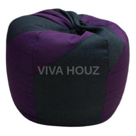 VIVA HOUZ - WHALE Bean Bag / Sofa / Chair, XXL SIZE (FANCY PURPLE)