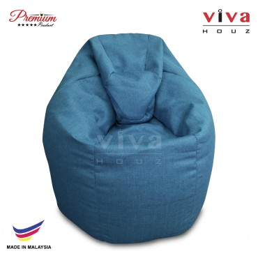 Viva Houz XL Bean Bag Chair Sofa (Blue)