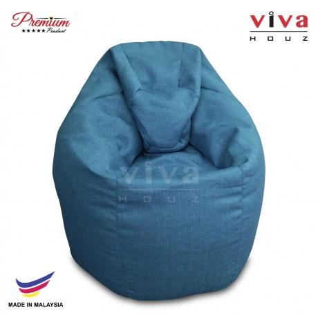 Viva Houz XL Bean Bag Chair Sofa (Blue)