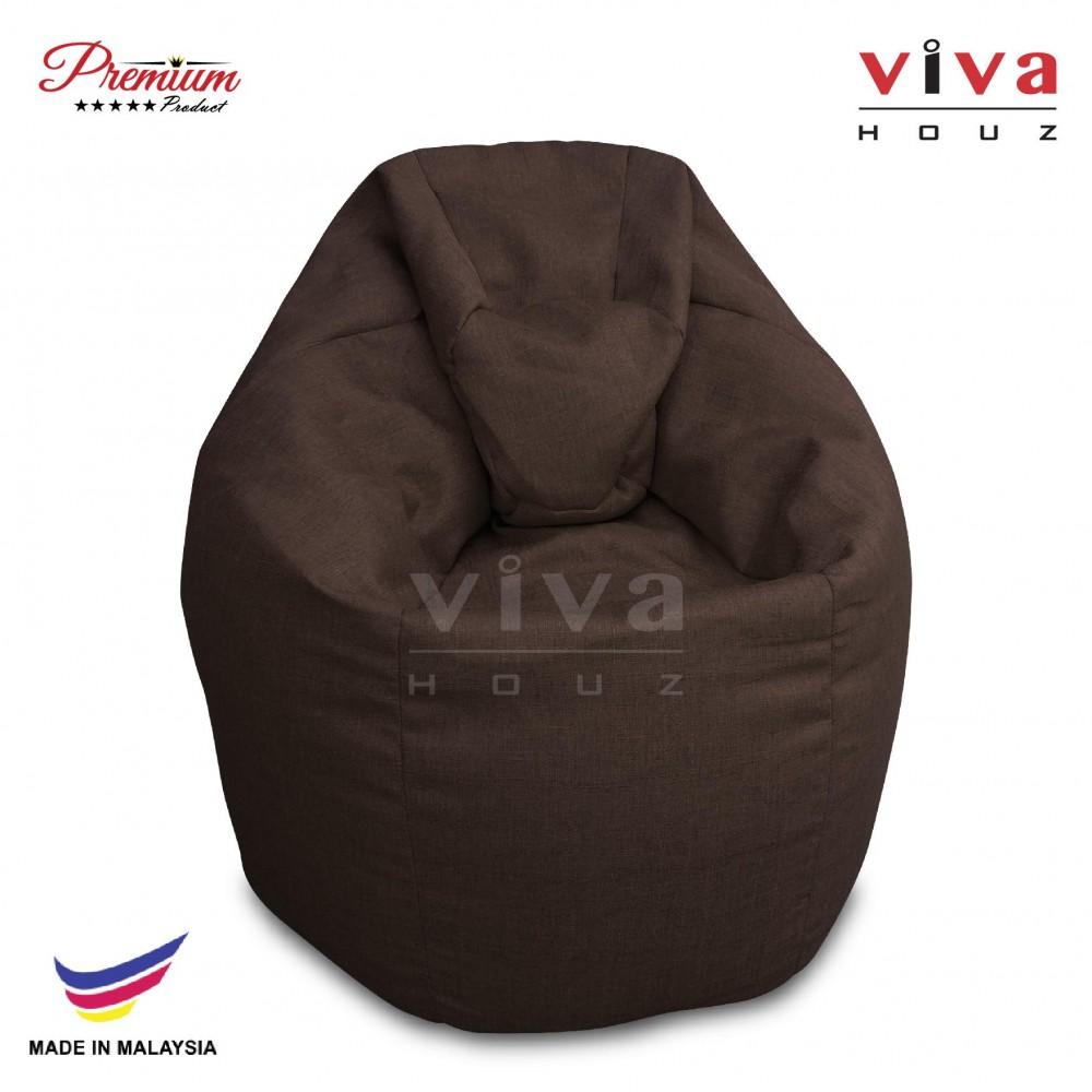 Viva Houz XL Bean Bag Chair Sofa (Brown)