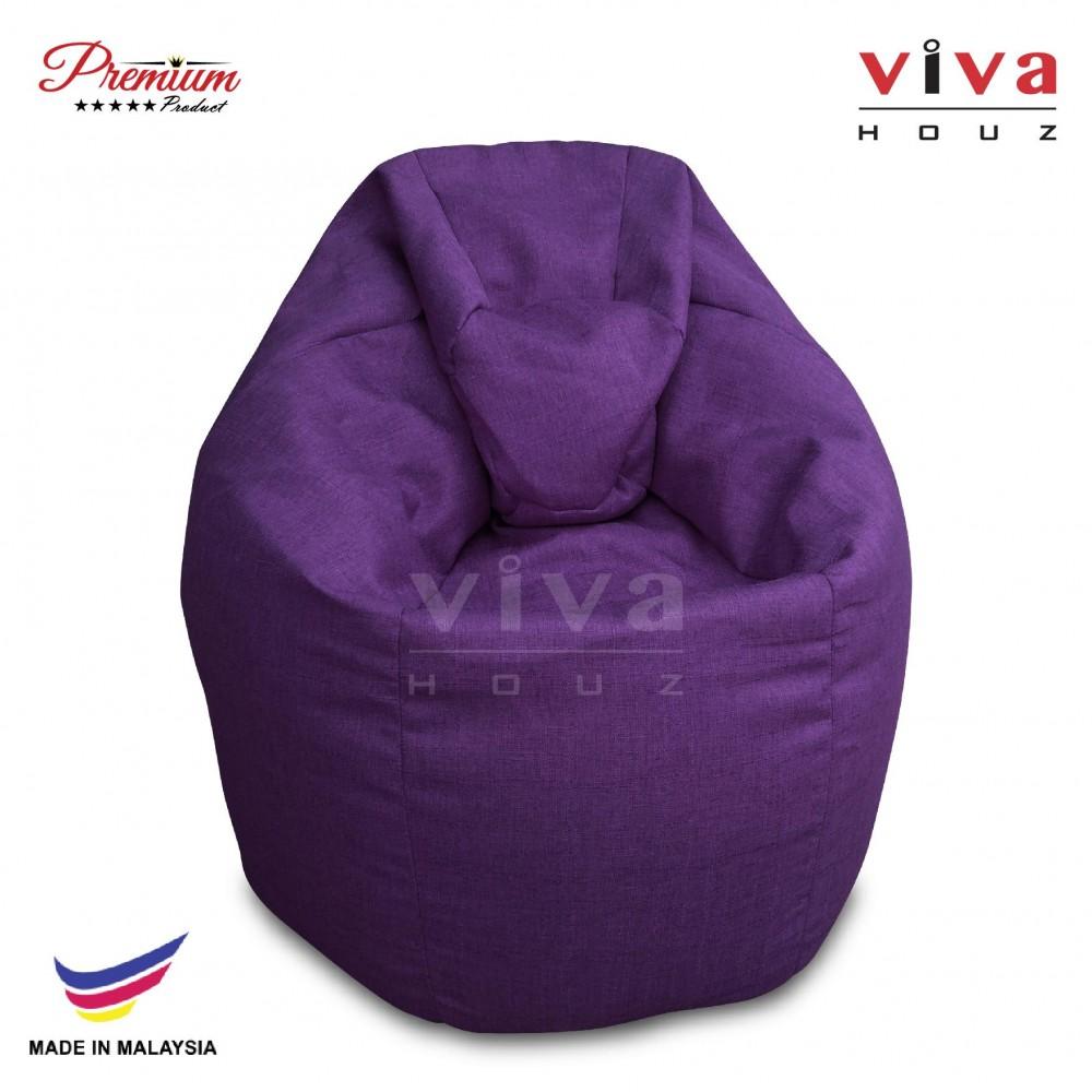 Viva Houz XL Bean Bag Chair Sofa (Purple)