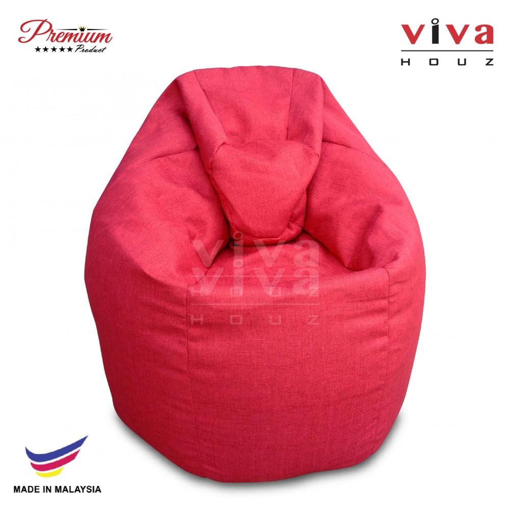Viva Houz XL Bean Bag Chair Sofa (Red)