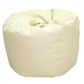 VIVA HOUZ - CHERRY PVC Bean Bag / Chair / Sofa, XL Size (Beige)