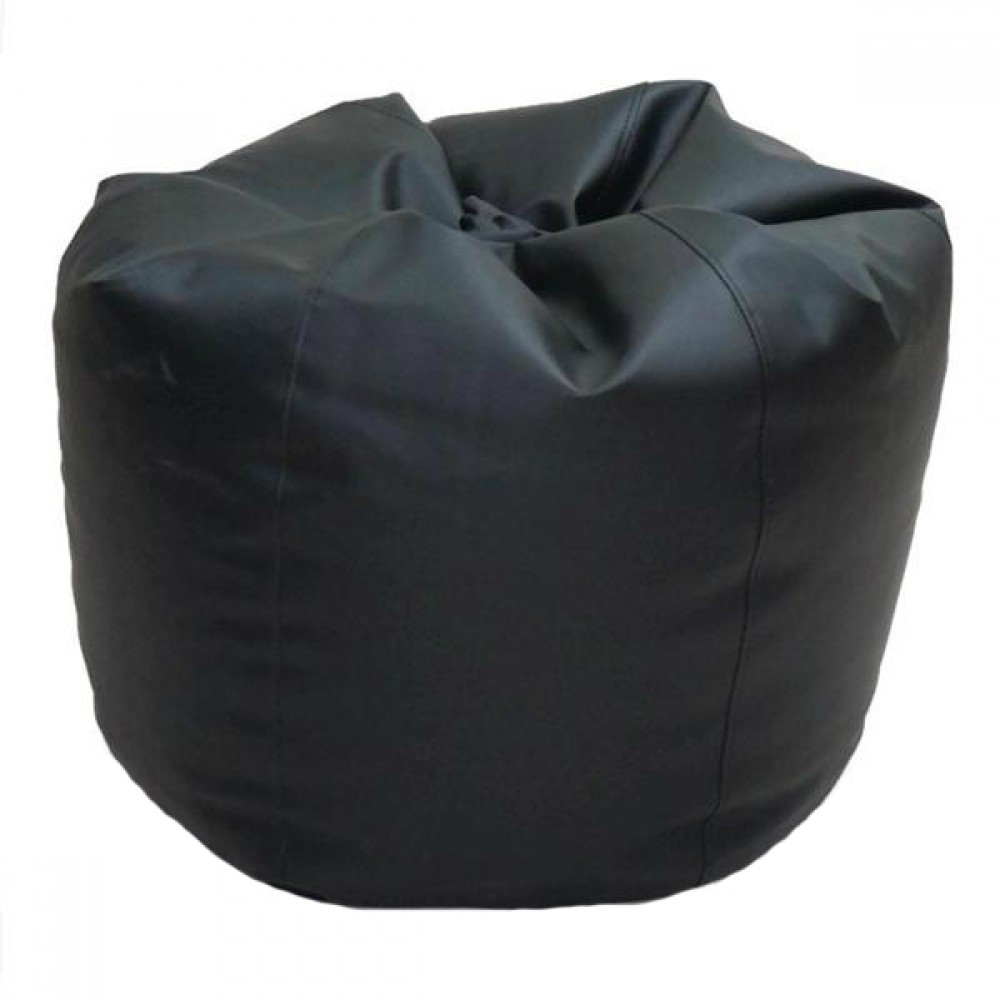 VIVA HOUZ - CHERRY PVC Bean Bag / Chair / Sofa, XL Size (Black)