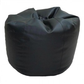 VIVA HOUZ - CHERRY PVC Bean Bag / Chair / Sofa, XL Size (Black)