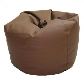 VIVA HOUZ - CHERRY PVC Bean Bag / Chair / Sofa, XL Size (Dark Brown)