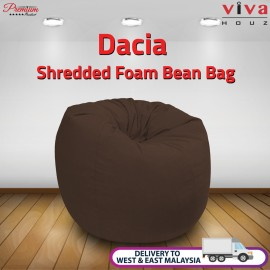 Viva Houz Dacia Bean Bag /Sofa/Chair, XL Size, Shredded Foam Filling, Imported Micro Suede Cover (Brown)