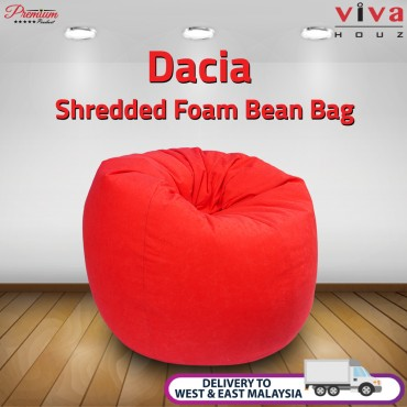 Viva Houz Dacia Bean Bag /Sofa/Chair, XL Size, Shredded Foam Filling, Imported Micro Suede Cover (Red)