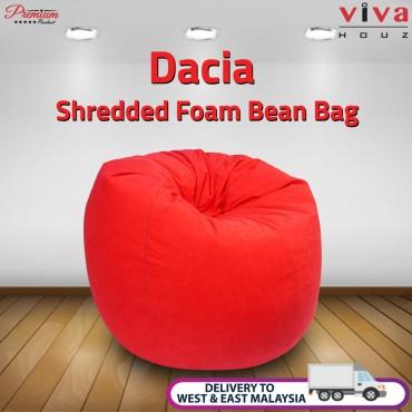 Viva Houz Dacia Bean Bag Sofa Chair XL Size Shredded Foam Filling