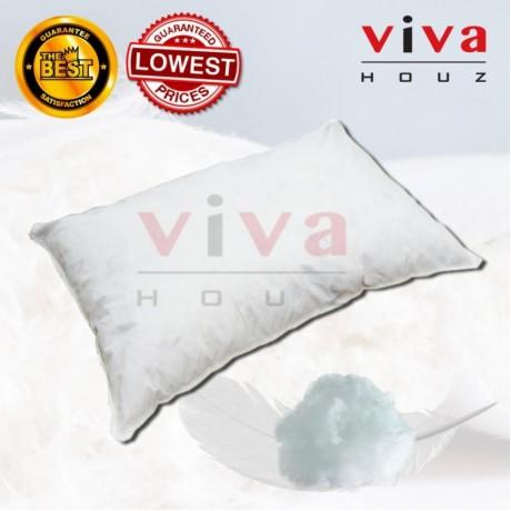 Viva Houz Comfy Feather /Polyester Fibre Stuffed Pillow, Soft, XL Size