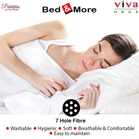 Viva Houz : Bed & More Virgin 7 Hole Fibre Pillow, Polyester Pillow, Made in Malaysia