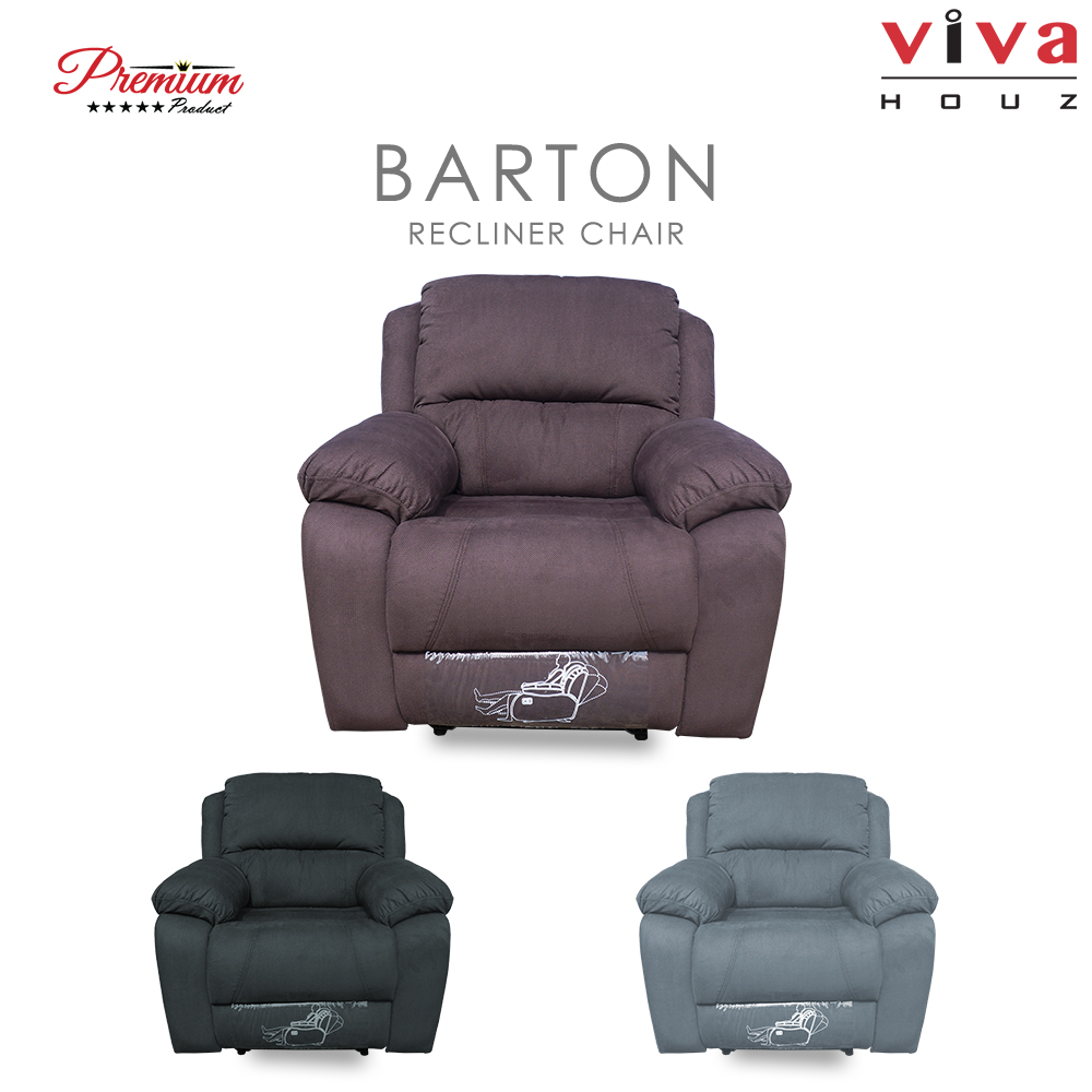 Viva Houz Barton Single Seat Recliner Chair / Sofa Full Fabric Cover XL Size (Classic Brown)  sc 1 st  Viva Houz & Houz Barton Single Seat Recliner Chair / Sofa Full Fabric Cover ... islam-shia.org