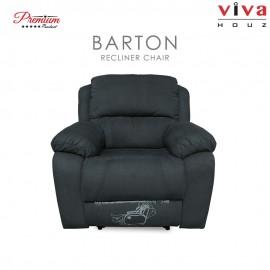 Viva Houz Barton Single Seat Recliner Chair / Sofa, Full Fabric Cover, XL Size (Dark Grey)