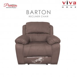 Viva Houz Barton Single Seat Recliner Chair / Sofa, Full Fabric Cover, XL Size (Light Brown)