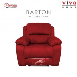 Viva Houz Barton Single Seat Recliner Chair / Sofa, Full Fabric Cover, XL Size (Maroon)