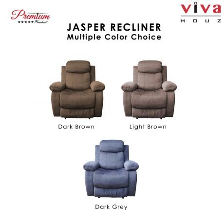 Viva Houz Jasper Single Seat Recliner Chair, Sofa, Full Fabric Cover (Dark Brown)