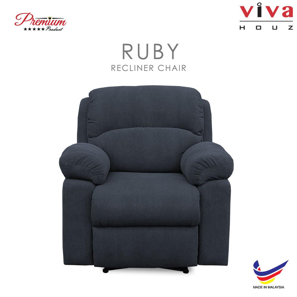 Viva Houz Ruby Single Seat Recliner Chair Sofa Full