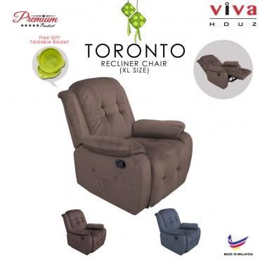 Viva Houz Toronto Single Seat Recliner Chair, Sofa, Full Fabric Cover (Light Brown)