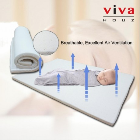 Viva Houz Sweetie Baby/Child Mattress, Pillow And Bolster (OEM), 100% Guaranteed Pure Latex, Sirim Certified, Made in Malaysia