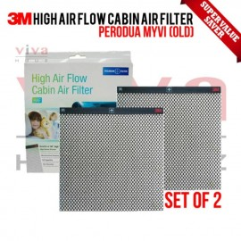 3M High Air Flow Cabin Air Filter for Perodua Myvi Old (2005-2011) (Set of 2)