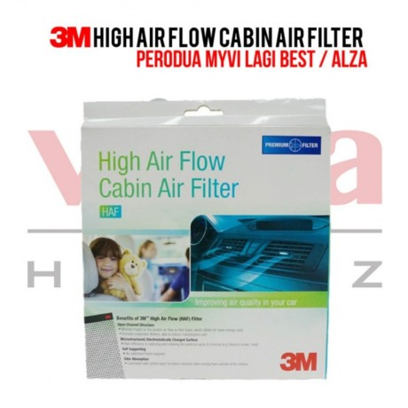 3M High Air Flow Cabin Air Filter for Perodua Myvi (2011- Present) & Alza