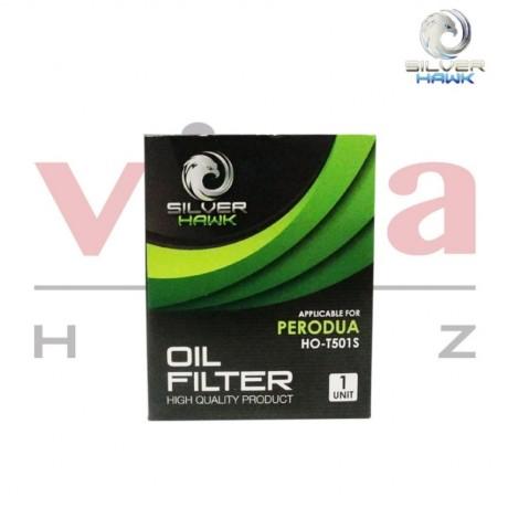 Silver Hawk Engine Oil Filter for Perodua Kancil, Myvi, Alza, Rusa, Kembara, Kenari, Kelisa, Viva, Nutica (Set of 2), Made In Malaysia