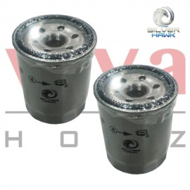 Silver Hawk Engine Oil Filter for Proton Wira, Waja, Juara, Satria, Perdana,Gen 2, Persona, Saga, Exora, Inspira, Preve (Set of 2), Made In Malaysia